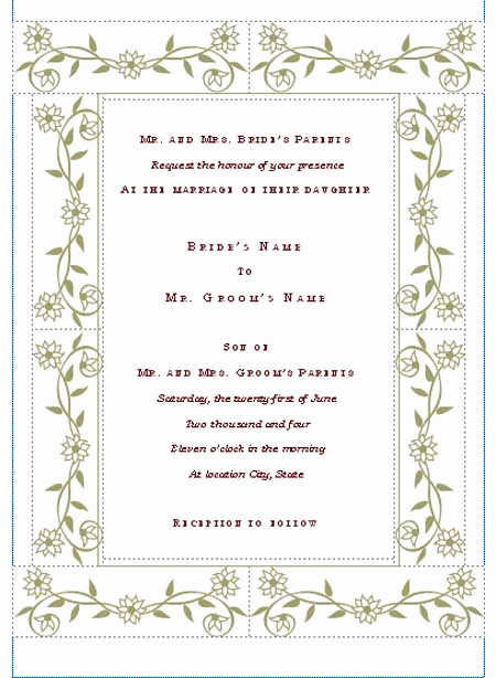 Free Invitation Templates for Word New Hohmannnt Unique Wedding