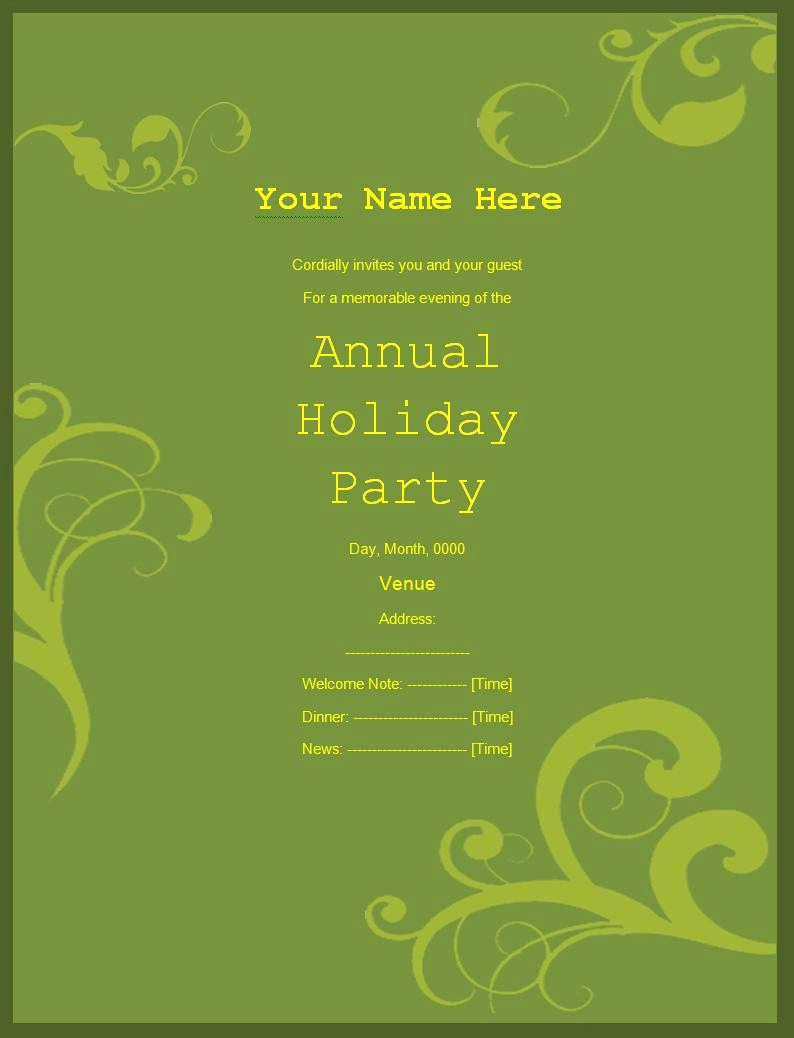 Free Invitation Templates for Word New Party Invitation Templates