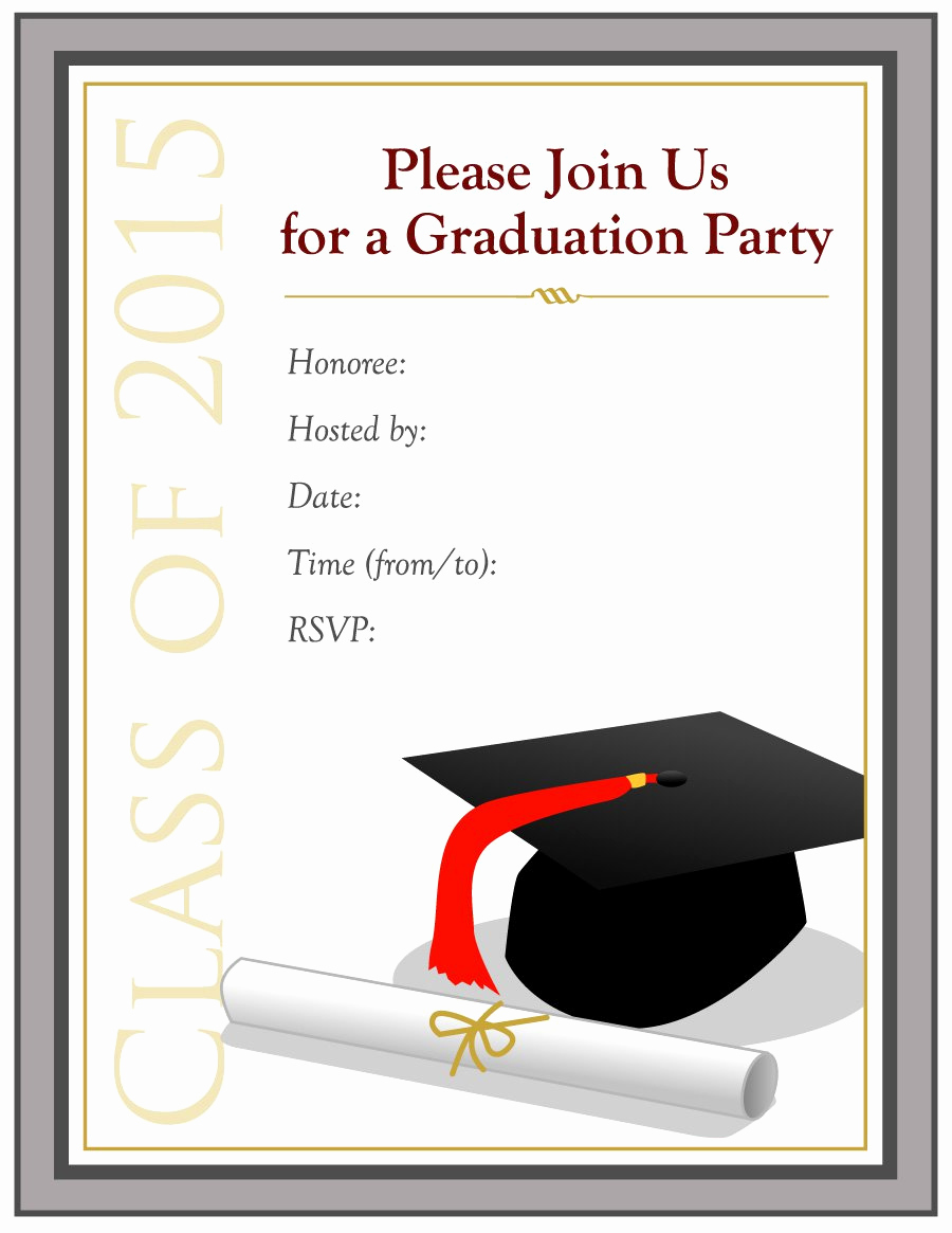 Free Invitation Templates for Word Unique 40 Free Graduation Invitation Templates Template Lab
