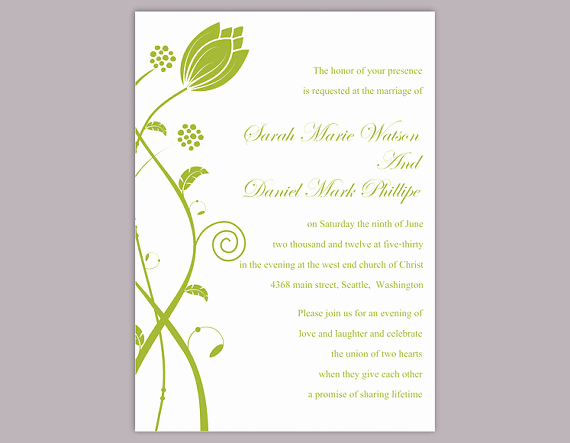 Free Invitation Templates for Word Unique Diy Wedding Invitation Template Editable Word File Instant