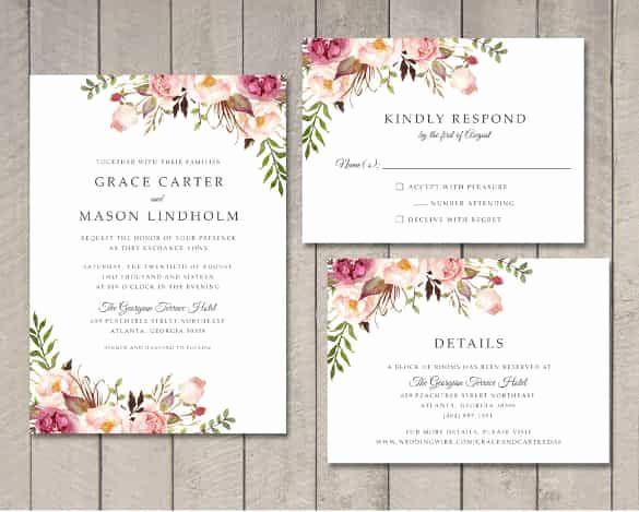 Free Invitation Templates for Word Unique Wedding Invitation Template 71 Free Printable Word Pdf