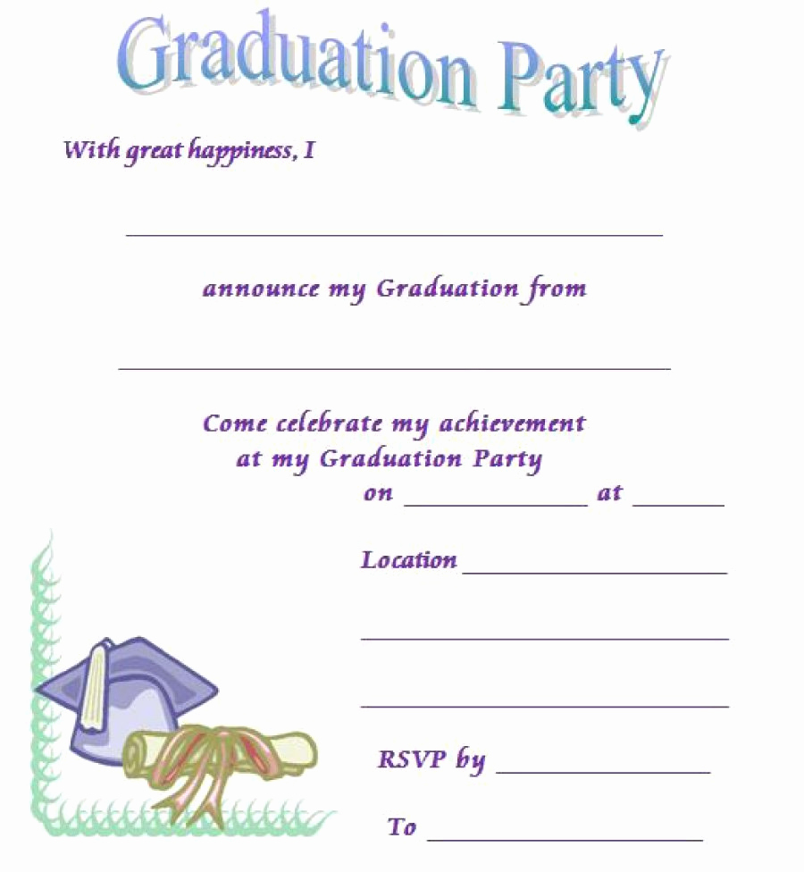 Free Invitation Templates Printable Beautiful 40 Free Graduation Invitation Templates Template Lab