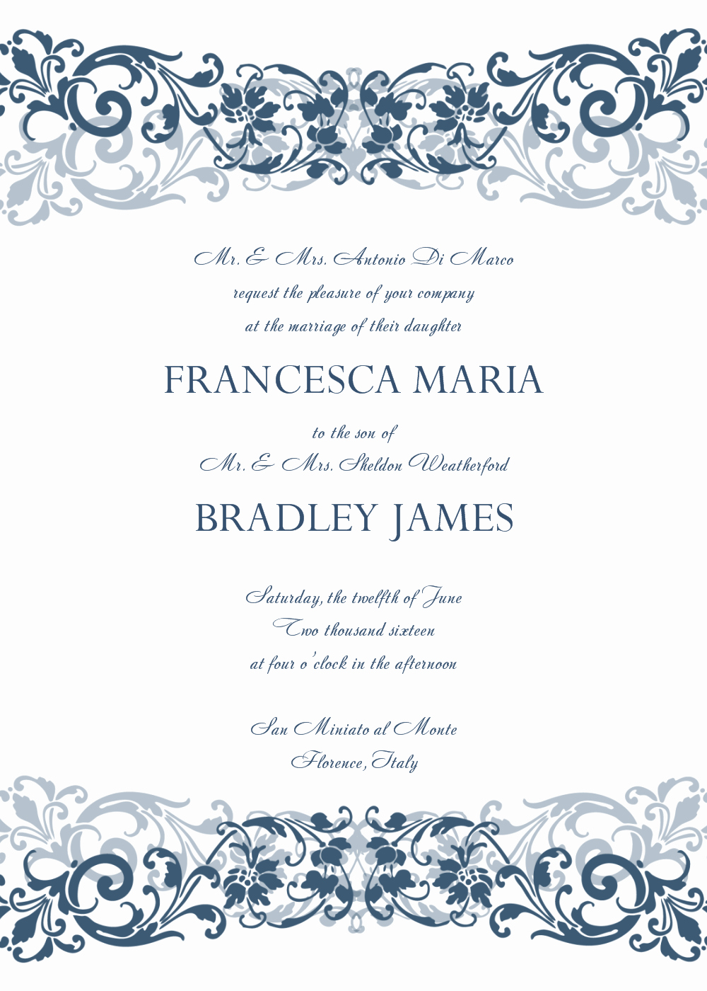Free Invitation Templates Printable Beautiful 8 Free Wedding Invitation Templates Excel Pdf formats