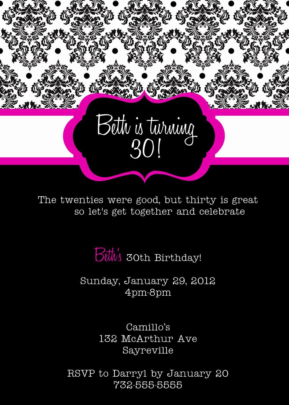 Free Invitation Templates Printable Beautiful Free Printable Birthday Invitation Templates for Adults