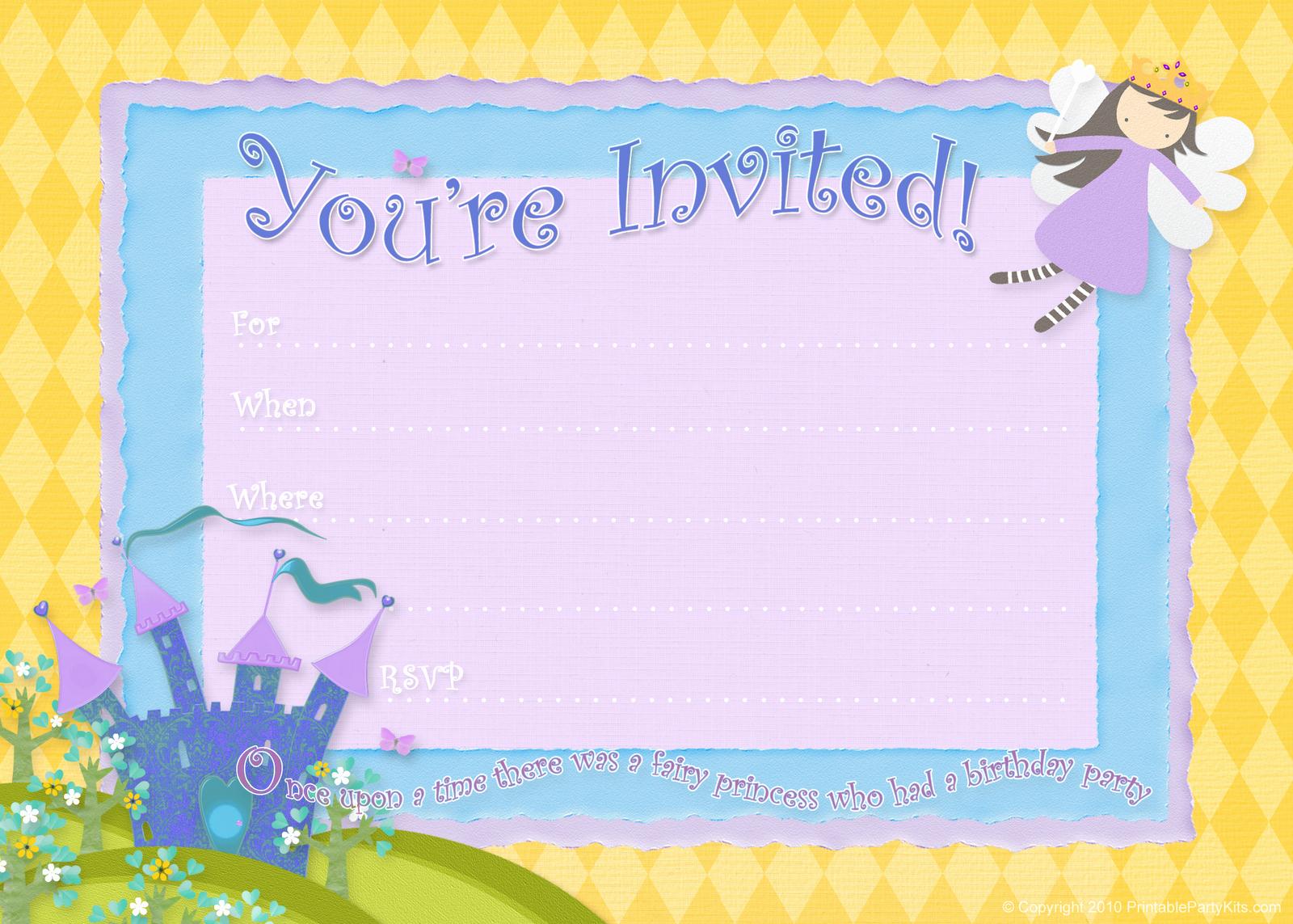 Free Invitation Templates Printable Fresh Free Birthday Party Invitations – Bagvania Free Printable