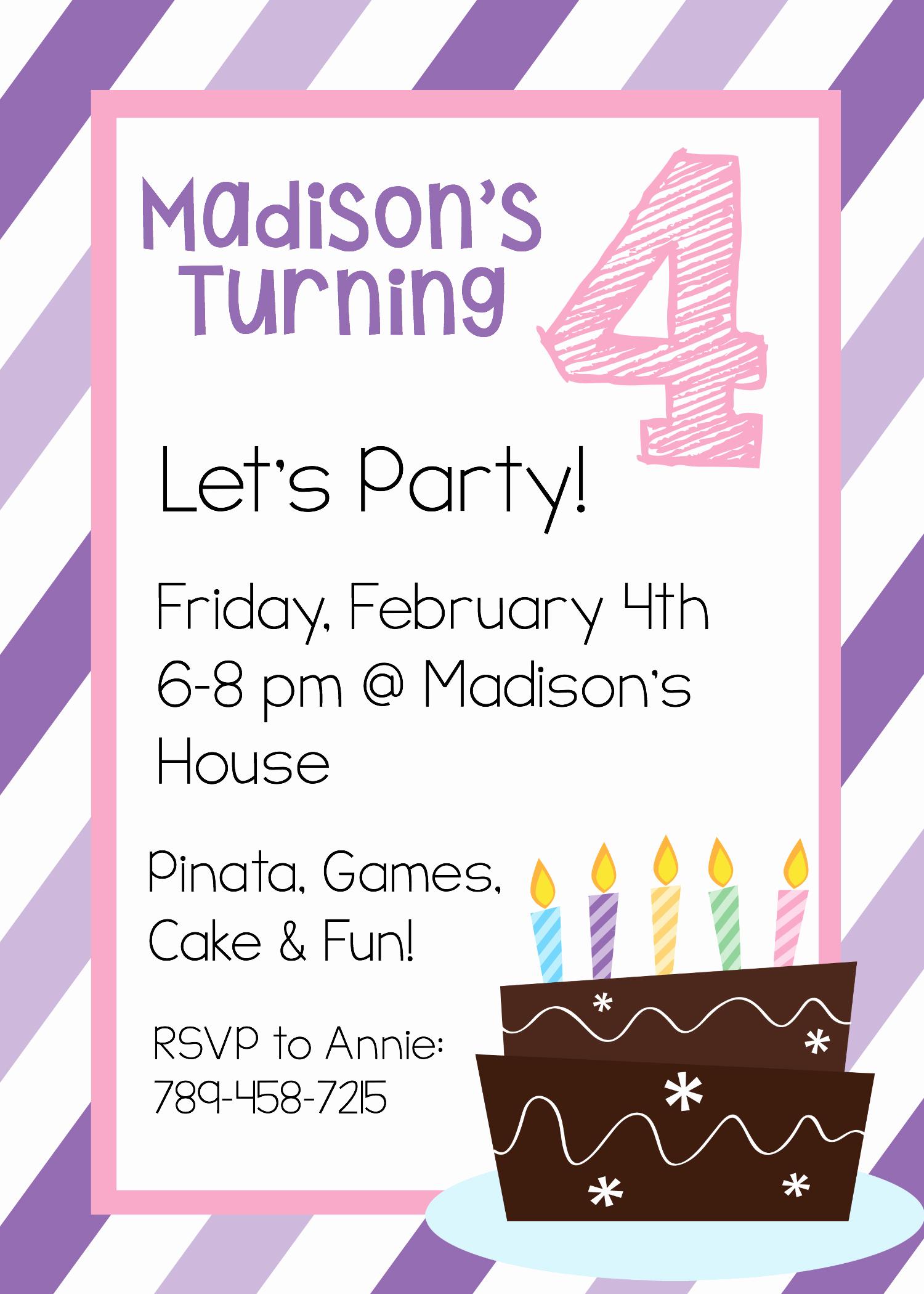 Free Invitation Templates Printable Lovely Free Printable Birthday Invitation Templates