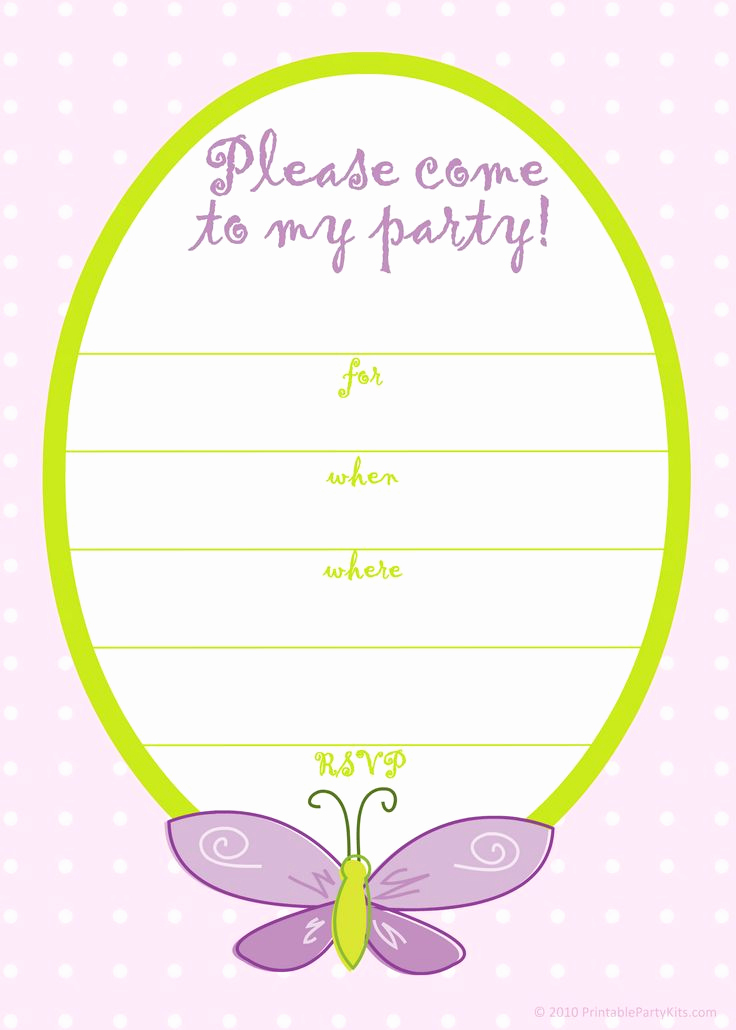 Free Invitation Templates Printable Lovely Free Printable Girls Birthday Invitations – Free Printable