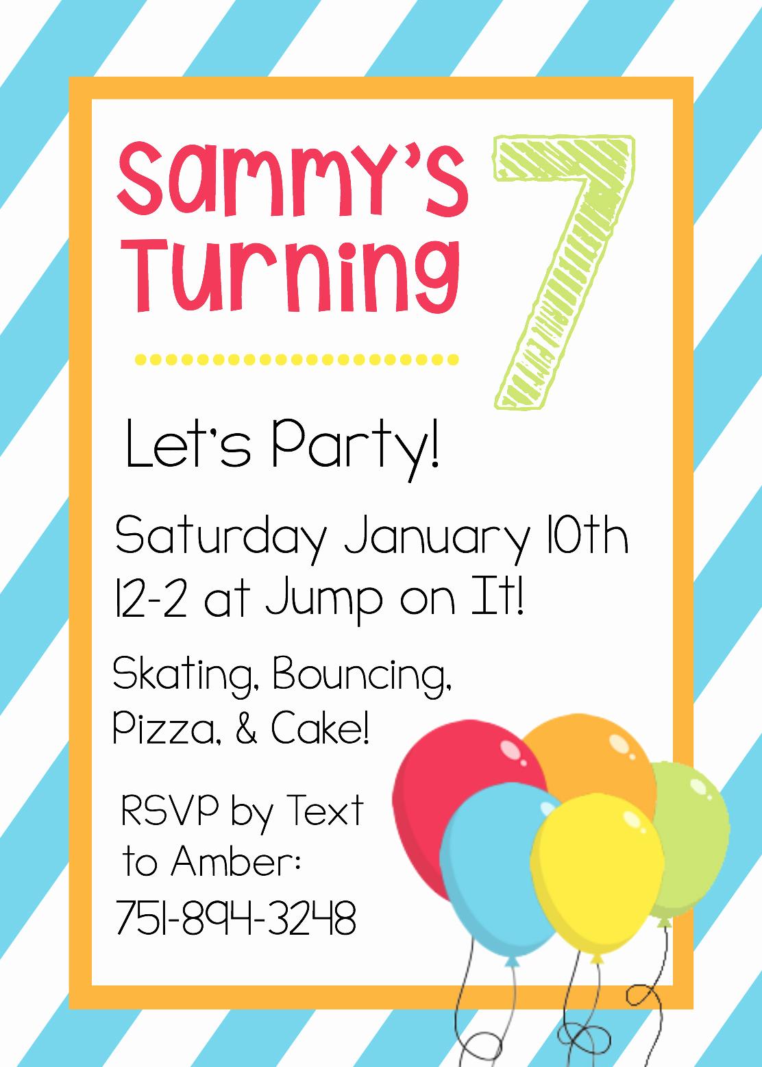 Free Invitation Templates Printable Unique Free Printable Birthday Invitation Templates