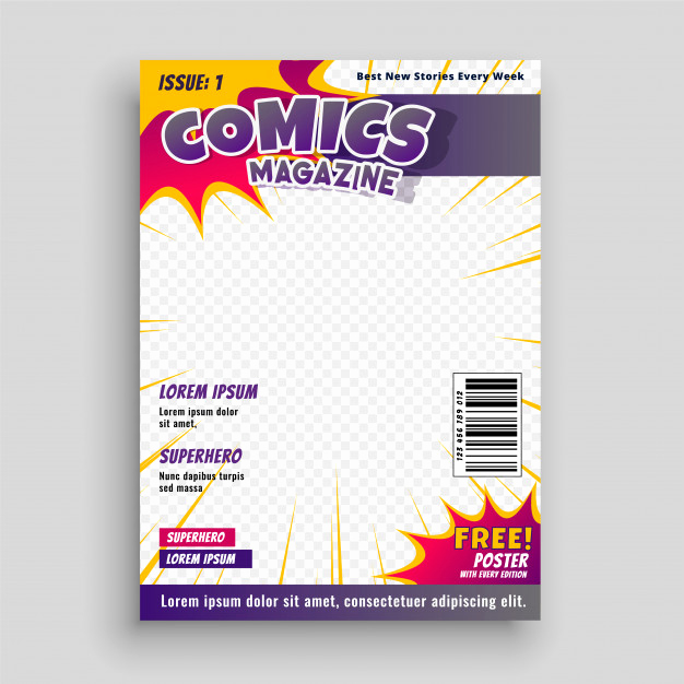 Free Magazine Cover Template Awesome Ic Book Vectors S and Psd Files