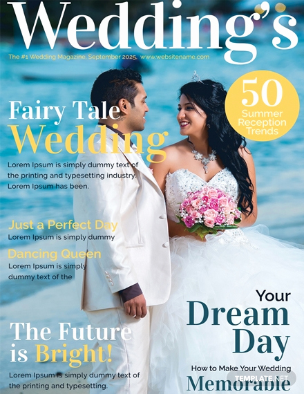 Free Magazine Cover Template Beautiful Free Wedding Magazine Cover Template Download 39