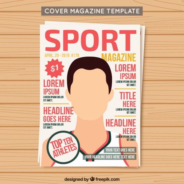 Free Magazine Cover Template Fresh Cover Sport Magazine Template Vector