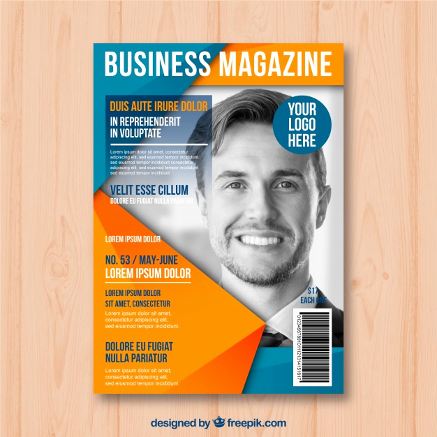 Free Magazine Cover Template Lovely Business Magazine Cover Template with Model Posing Vector