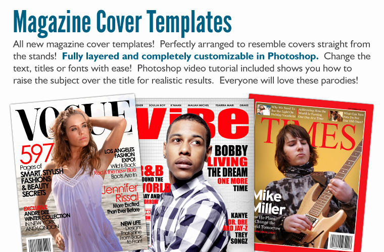 Free Magazine Cover Template Lovely Premium Pack Photoshop Templates Digital Backgrounds