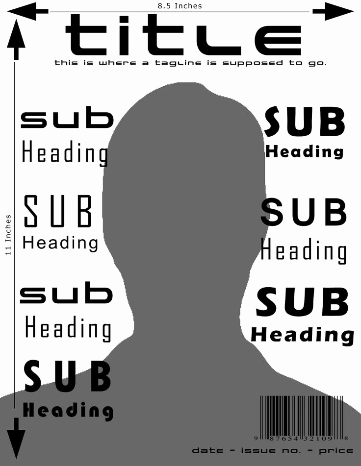Free Magazine Cover Template New Magazine Cover Template and Dimensions