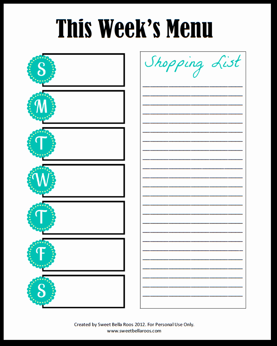 Free Meal Planner Template Awesome 301 Moved Permanently