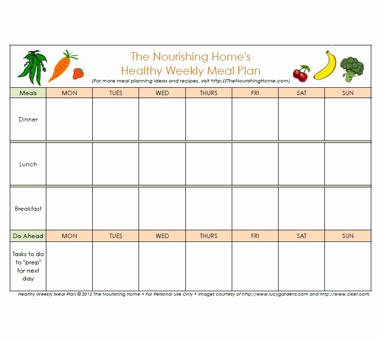 Free Meal Planner Template Beautiful 40 Weekly Meal Planning Templates Template Lab