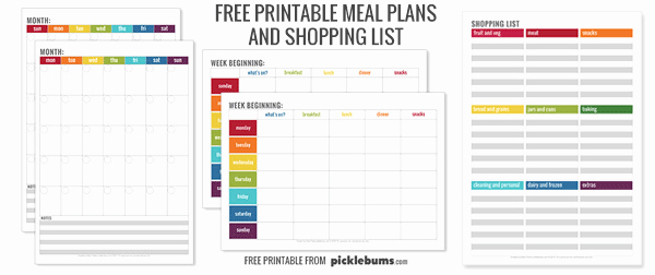 Free Meal Planner Template Beautiful Monthly Menu Plan Printable Picklebums