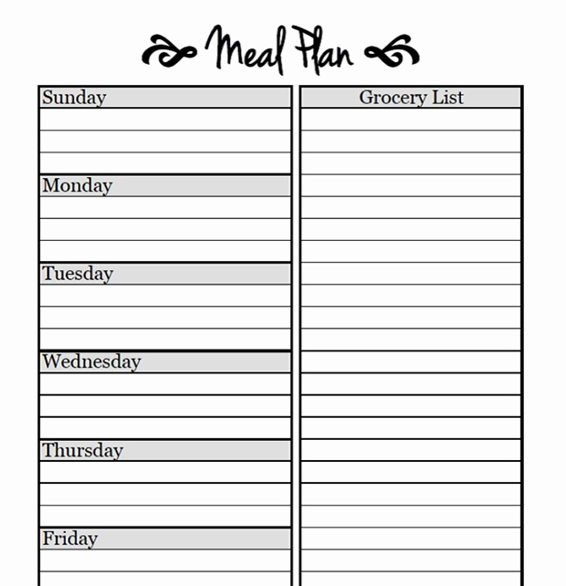 Free Meal Planner Template Elegant Printable Meal Planning Templates to Simplify Your Life