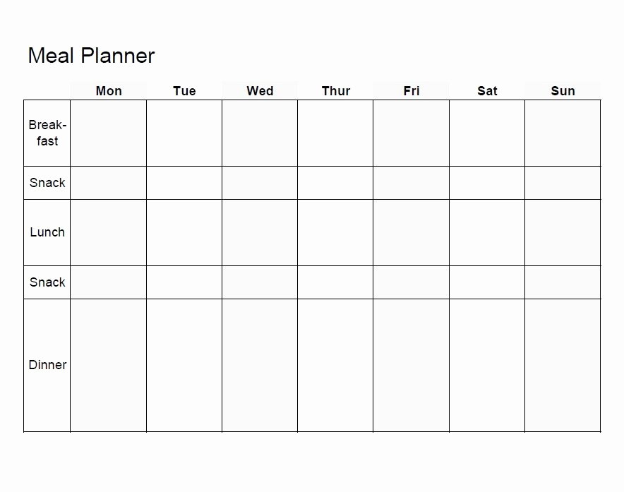 Free Meal Planner Template Luxury Meal Planning Template