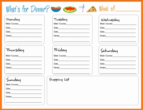 Free Meal Planner Template Unique Meal Planning Templates On Pinterest