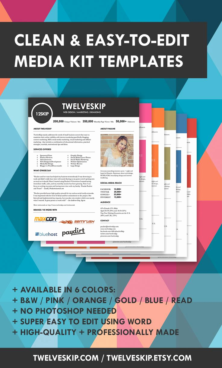 Free Media Kit Template Awesome 32 Best Images About Media Kit Design Examples On