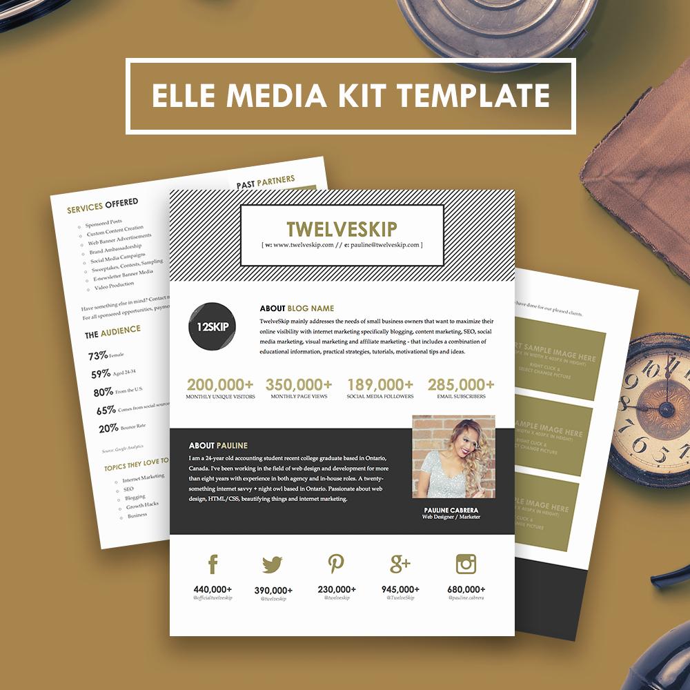 Free Media Kit Template Beautiful Elle Media Kit Template Hip Media Kit Templates