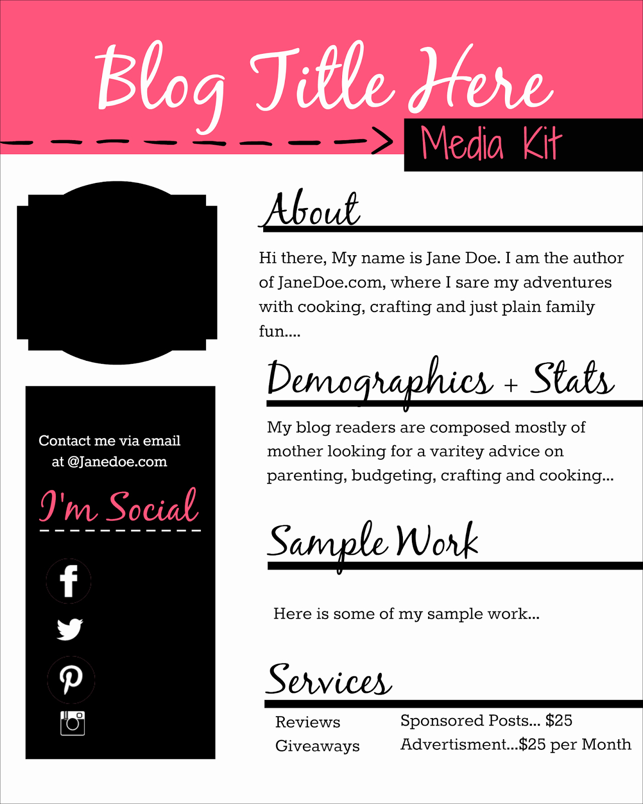 Free Media Kit Template Best Of How to Design A Free Media Kit for Your Blog Premade