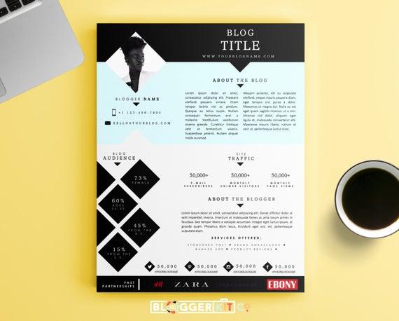 Free Media Kit Template Elegant E Page Media Kit Template Press Kit Template by Bloggerkitco
