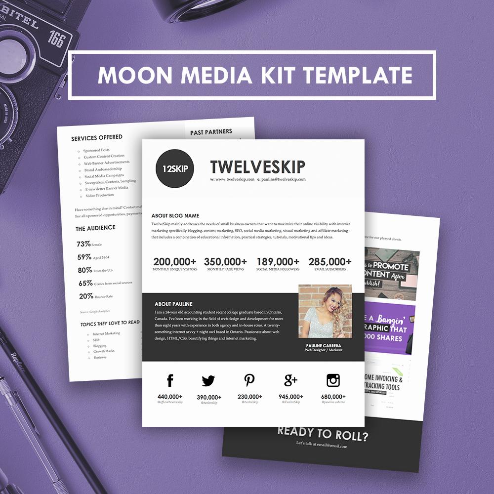 Free Media Kit Template Elegant Moon Media Kit Template Hipmediakits