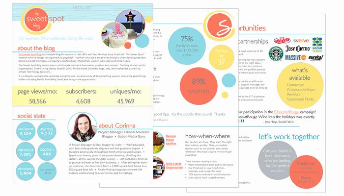 Free Media Kit Template Lovely 10 Inspiring Media Kits From Bloggers Blog Clarity