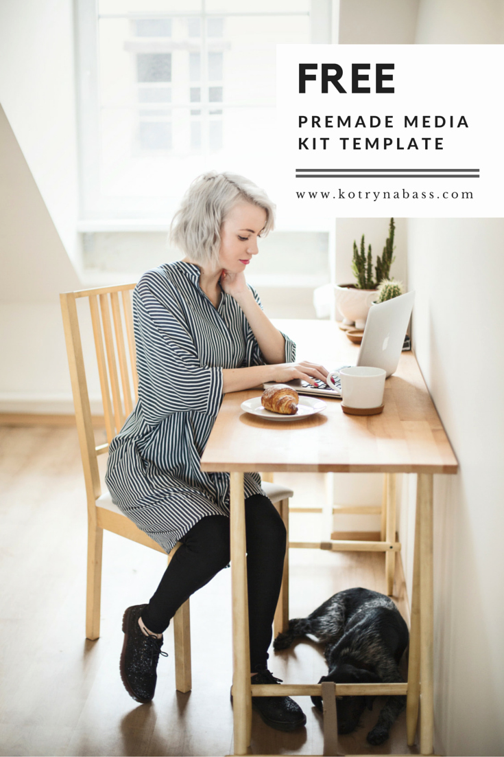 Free Media Kit Template Lovely How to Create A Media Kit Template for Your Blog Free