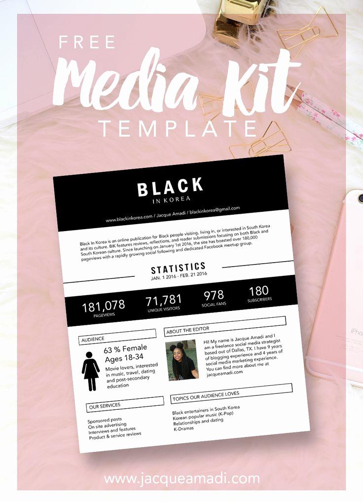 Free Media Kit Template New 74 Best Images About Blogging Media Kit On Pinterest