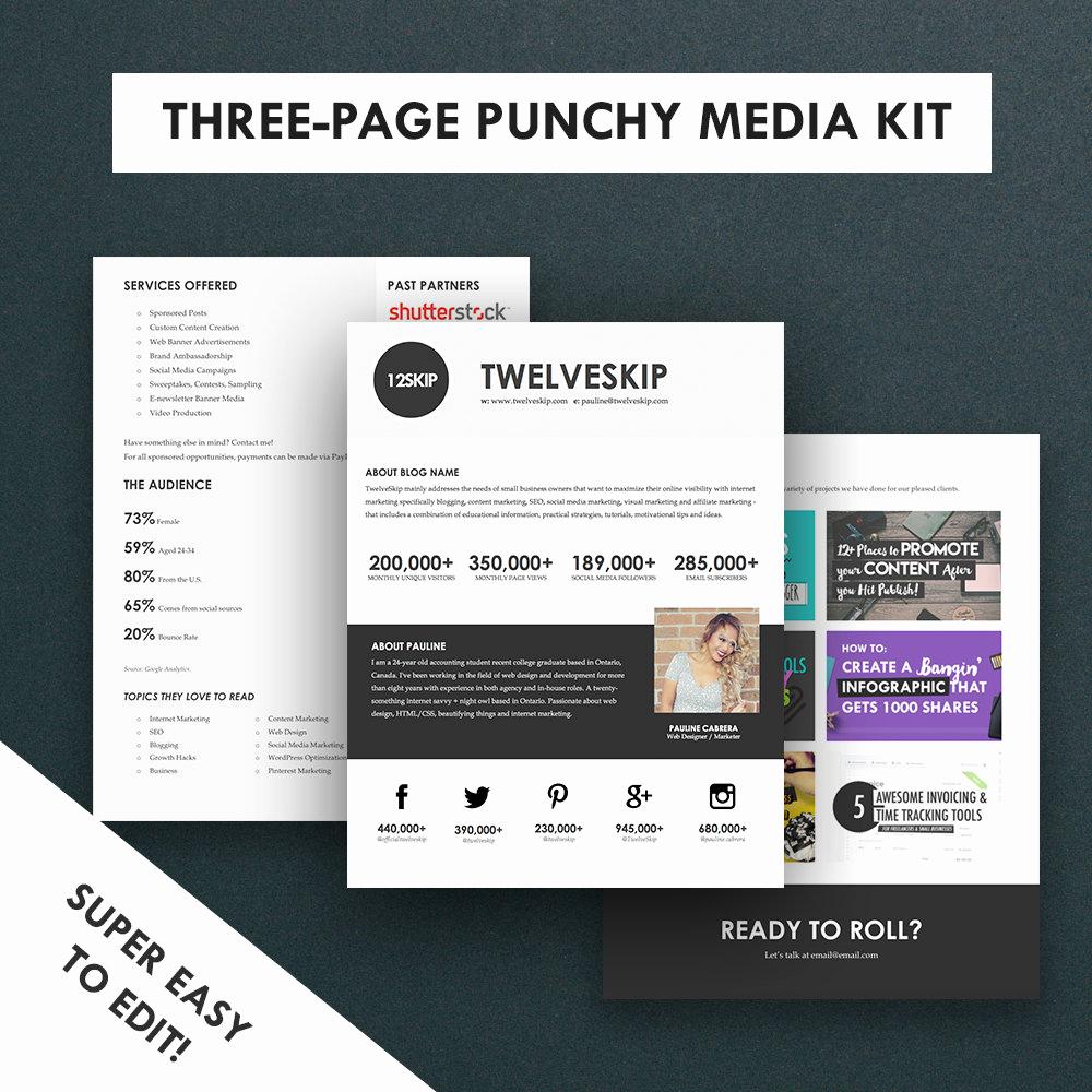 Free Media Kit Template New Minimalist Media Kit Template Press Kit 3 Pages