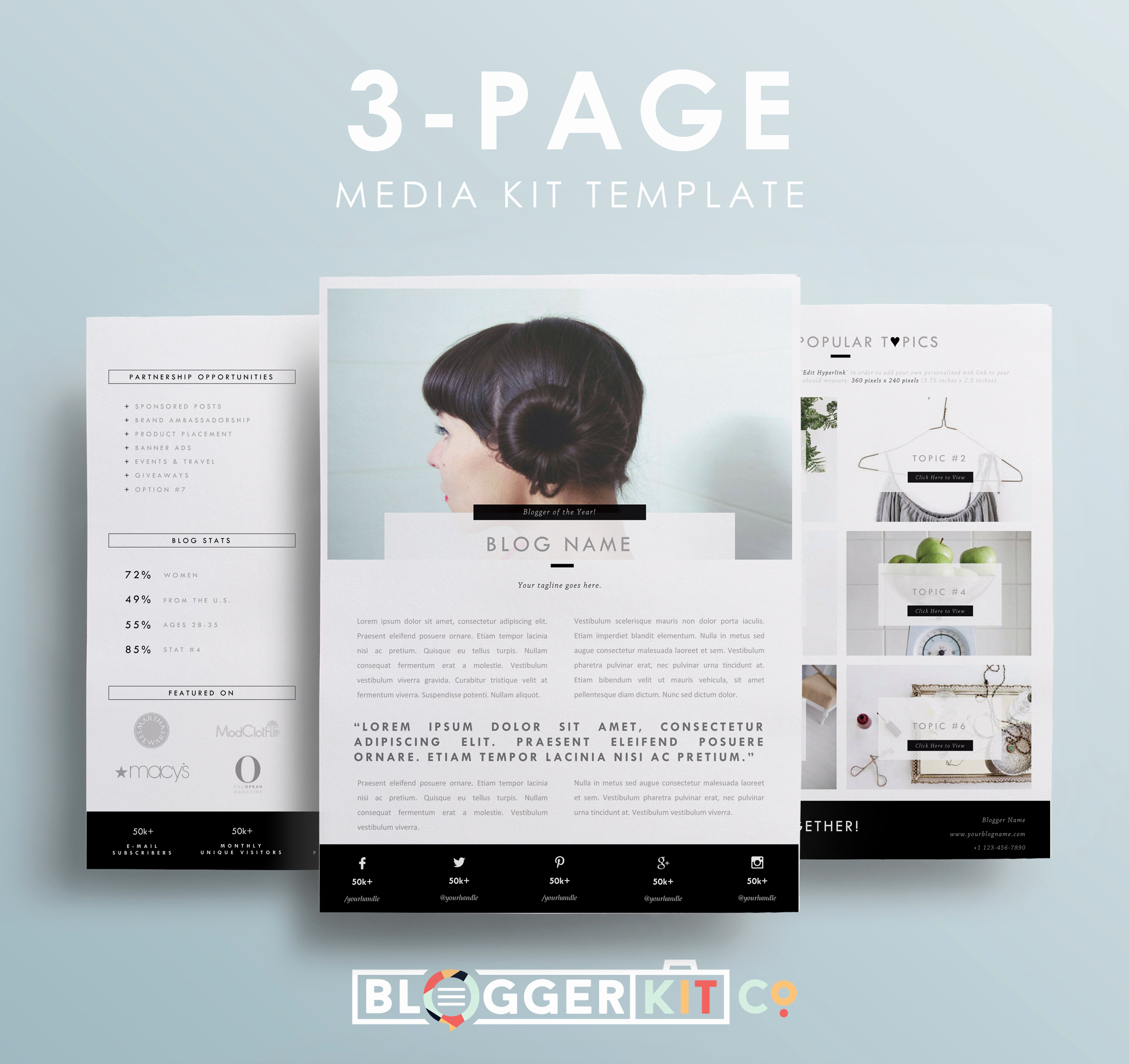 Free Media Kit Template New Mompreneur Media Kit Template
