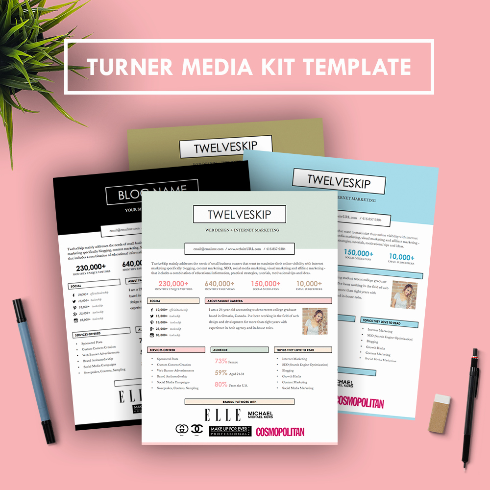 Free Media Kit Template New Turner Media Kit