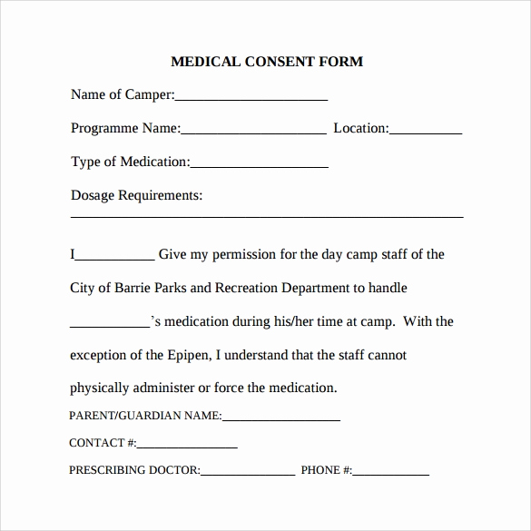 Free Medical Consent form Beautiful Medical Consent form 6 Download Free In Pdf