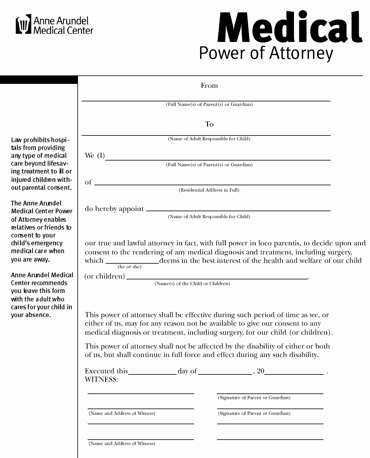 Free Medical Power Of attorney Elegant Download Maryland Medical Power Of attorney form for Free