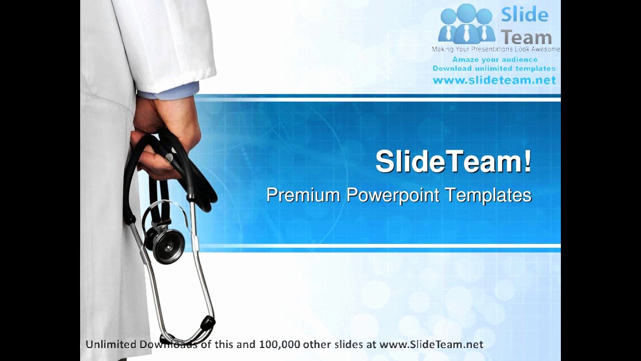 Free Medical Powerpoint Templates Fresh Doctor with Stethoscope Medical Powerpoint Templates