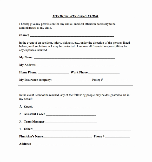 Free Medical Release form Awesome Sample Medical Release form 10 Free Documents In Pdf Word