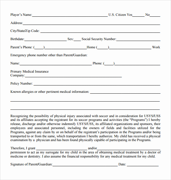 Free Medical Release form Fresh 12 Medical Release forms – Samples Examples & formats