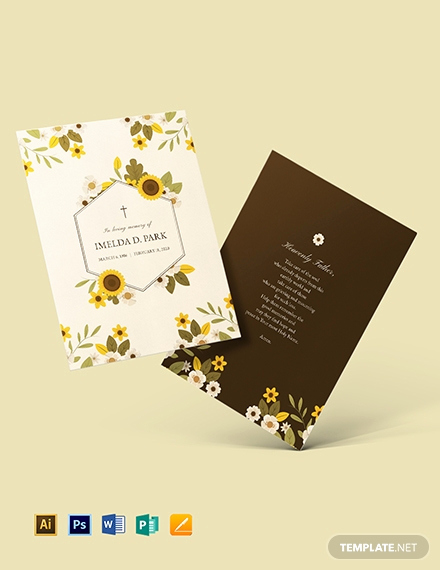 Free Memorial Card Template Awesome Free Funeral Memorial Card Template Download 232 Cards