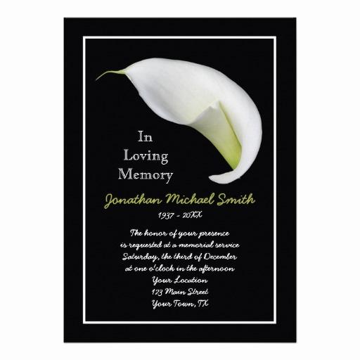 "Free Memorial Card Template Inspirational Memorial Service Invitation Announcement Template 5"" X 7"