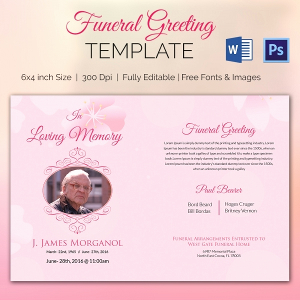Free Memorial Card Template Lovely 11 Funeral Card Templates Free Psd Ai Eps format