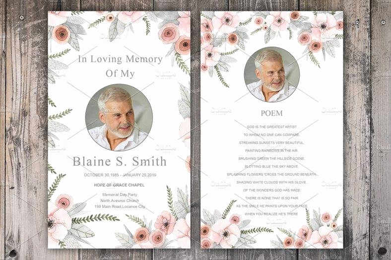 Free Memorial Card Template Lovely 11 Funeral Memorial Card Designs & Templates Psd Ai