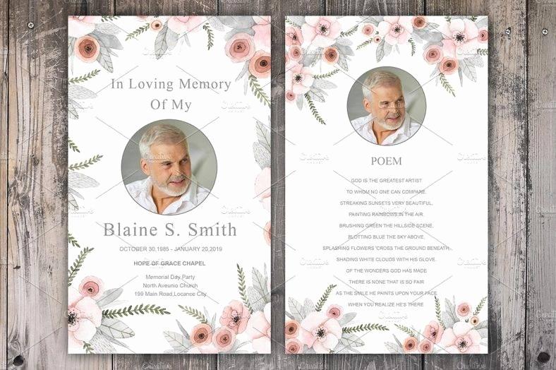 Free Memorial Card Template Lovely 11 Funeral Memorial Card Designs & Templates Psd Ai