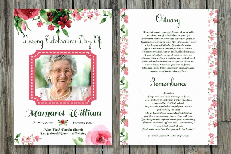 Free Memorial Card Template Lovely 20 Memorial Card Designs & Templates Psd Ai Indesign