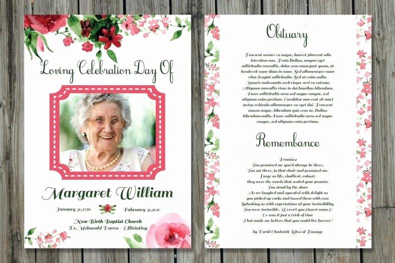 Free Memorial Card Template Lovely 20 Memorial Card Designs & Templates Psd Ai Indesign