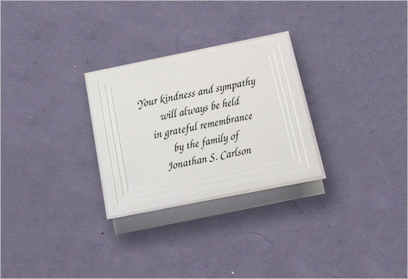 Free Memorial Card Template Lovely 26 Funeral Thank You Cards Psd Ai Eps