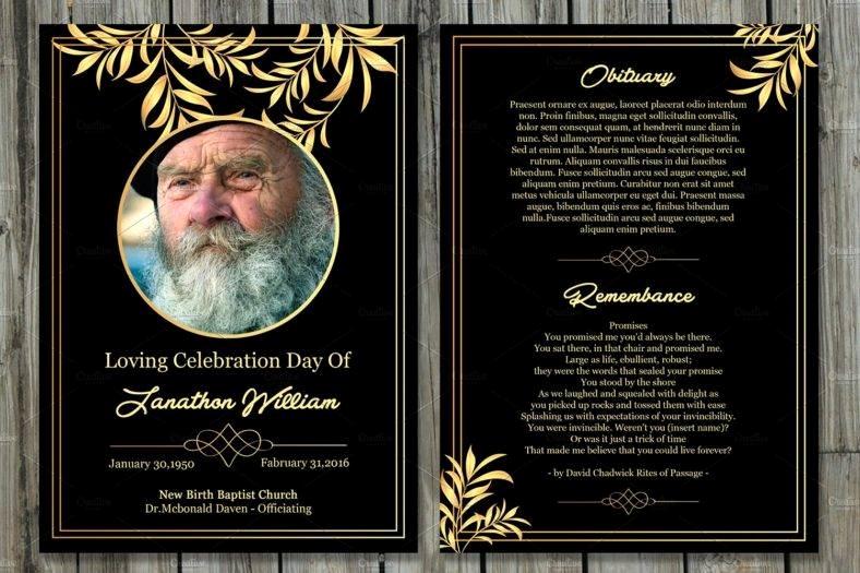 Free Memorial Card Template New 11 Funeral Memorial Card Designs & Templates Psd Ai