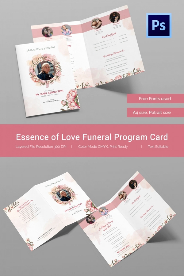 Free Memorial Card Template New 21 Obituary Card Templates – Free Printable Word Excel